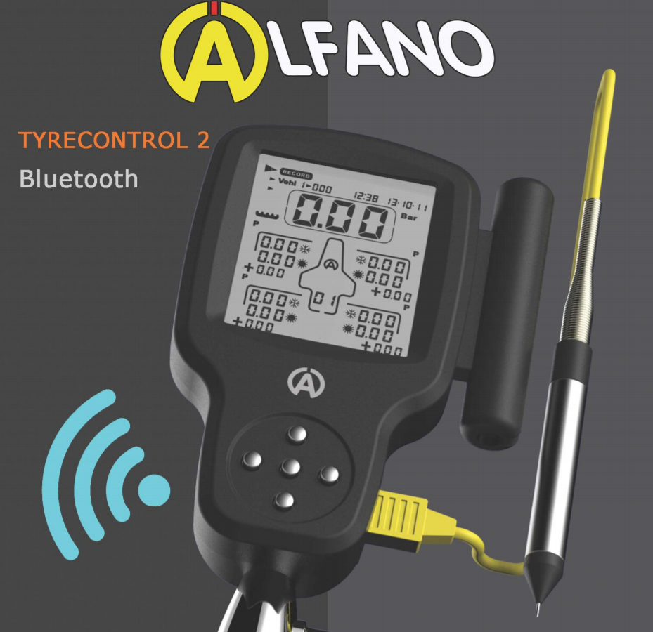 Alfano Tyre Control 2 Pressure Gauge